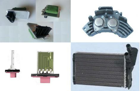 Fűtőmotor előtét ellenállás, fűtőradiátor, fűtőventillátor akciós áron Miskolcon.jpg